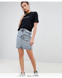 Noisy May Tall - Acid Wash Skirt - Lyst