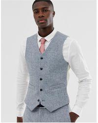 ASOS Slim Suit Waistcoat - Grey