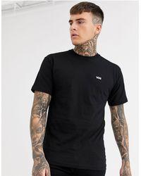 Vans T-shirt nera con logo piccolo - Nero