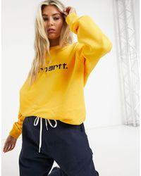Carhartt WIP Sweat-shirt à logo - Tournesol et noir - Jaune