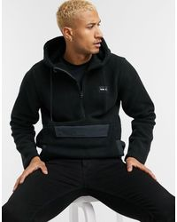 Hurley Polaire anorak style sherpa - Noir
