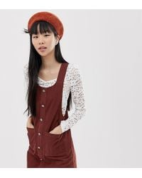 New Look Pinny In Cord - Brown
