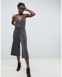 Vero Moda - Pleated Glitter Jumpsuit - Lyst