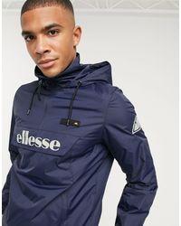 Ellesse - Темно-синяя Куртка Без Застежки Со Светоотражающим Логотипом -темно-синий - Lyst