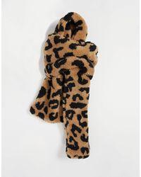 TOPSHOP Шарф Из Искусственного Меха С Леопардовым Принтом -коричневый Цвет - Многоцветный