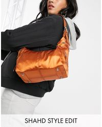 ASOS 90s Utility Shoulder Bag - Orange