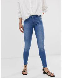 ONLY Allan Regular Push Up Skinny Jeans-blue