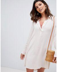 Rhythm - Beach Shirt Cover Up In Blush - Lyst