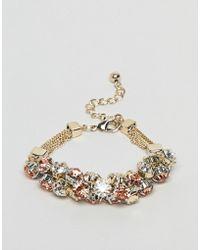 Coast Crystal Cluster Chain Bracelet - Metallic
