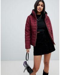 AX Paris Дутая Куртка С Высоким Воротом -фиолетовый - Красный