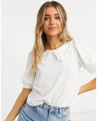 ASOS T-shirt avec col - Blanc - Multicolore