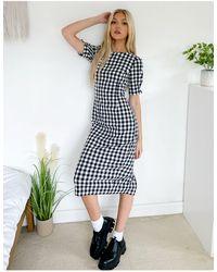 Oasis Gingham Midi Dress - Multicolour