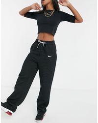 Nike - Черные Флисовые Джоггеры Прямого Кроя Engineered Tech-черный - Lyst