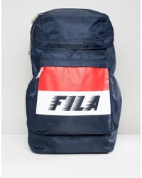 Fila - Leonard Backpack In Navy - Lyst