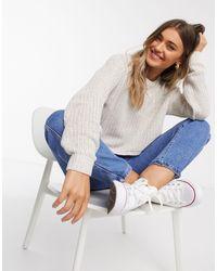 Hollister Puff Sleeve Sweater - Multicolor