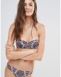 Undiz - Printed Lattice Bikini Top - Lyst