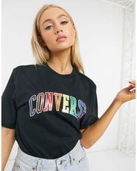 Converse Pride Rainbow Logo T-shirt - Black