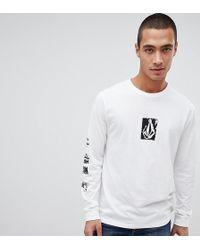 Volcom - Long Sleeve T Shirt In White - Lyst