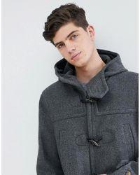 Mango - Man Wool Mix Duffle Coat In Gray - Lyst
