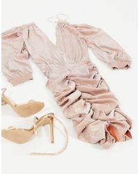 AX Paris Платье Мини С Блестками Цвета Розового Золота -золотистый - Металлик