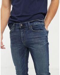 Hollister Jeans skinny lavaggio scuro - Blu
