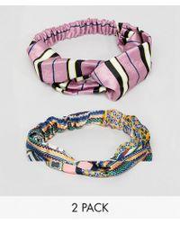 New Look 2 Pack Printed Turban - Multicolor