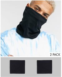 ASOS 2 Pack Organic Cotton Snood Face Covering - Black