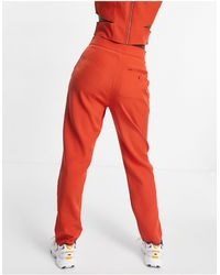 Missguided Co-ord Cigarette Trousers - Red