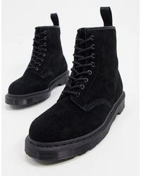 Dr. Martens - Черные Замшевые Ботинки С 8 Парами Люверсов 1460-черный - Lyst
