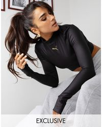 PUMA Training X Stef Fit Long Sleeve Cropped Backless T-shirt - Black