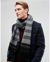 Esprit - Scarf In Black Mixed Stripe - Lyst