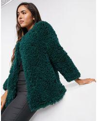 Mango Teddy Coat - Green