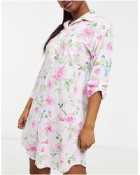 Lauren by Ralph Lauren Woven Sleepshirt - Pink