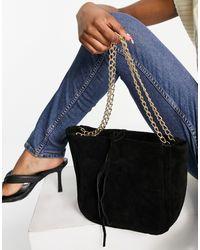Urbancode Suede Shoulder Bag - Black