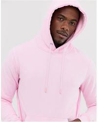 Pull&Bear Overhead Hoodie - Pink