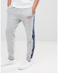 Abercrombie & Fitch - Americana Joggers With Side Tapping In Grey - Lyst