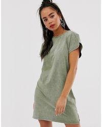 f223e1e194211f Robe t-shirt - Kaki - Vert