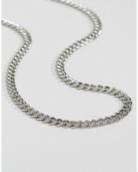 ASOS Catena argento di media pesantezza - Metallizzato