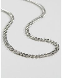 ASOS - Midweight Chain In Silver Tone - Lyst