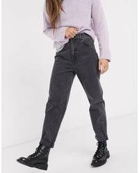 Pull&Bear Mom Jeans Met Elastische Taille - Zwart