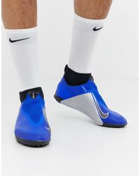 Nike Football React Phantom Pro Astro Turf - Baskets - Bleu AO3277-400