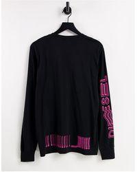 DIESEL Черный Лонгслив T-just-черный Цвет - Многоцветный