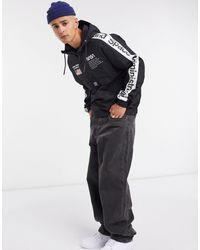 Pull&Bear Nasa Overhead Jacket - Black