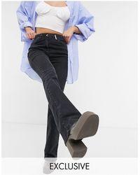 Collusion X008 - Jeans a zampa neri - Nero