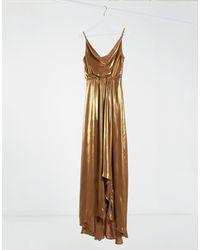 TFNC London Золотистое Платье Макси На Бретелях Со Свободным Воротом -золотистый - Металлик
