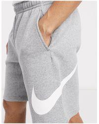 Nike Club - Pantaloncini grigi - Grigio