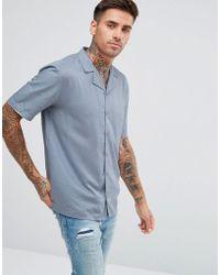 Another Influence - Plain Revere Collar Short Sleeve Shirt - Lyst
