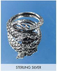 ASOS Sterling Silver Ring - Metallic