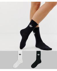 1f9d55ea1d1da adidas Originals 2 Pack Knee High Socks - Lyst