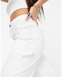 TOPSHOP Khaki Tapered Trousers - Natural